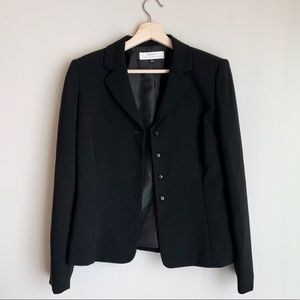 Tahari Arthur S. Levine Black Button Up Blazer
